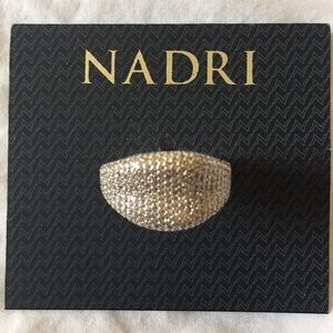 NADRI sz 7 Silver Rhinestone Glazed Ring $150 new
